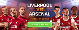 Liverpool vs Arsenal 1 Oct